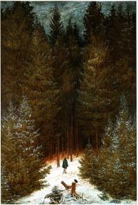 """Mit seinem Bild """"Der Chasseur im Walde"""" thematisiert Caspar David Friedrich die """"Waldeinsamkeit"""""""