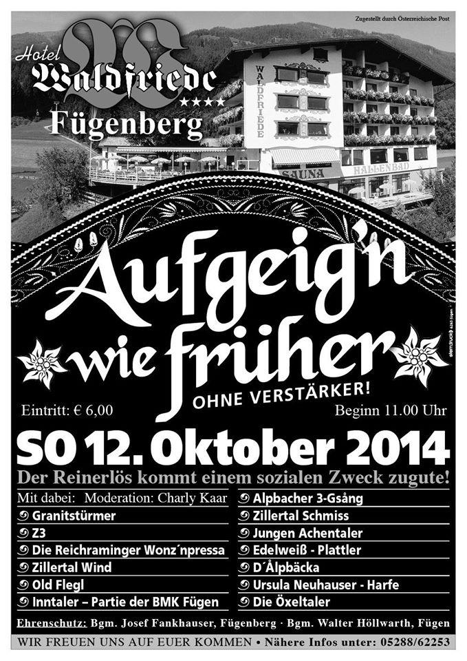 """Bald wird im """"Hotel Waldfriede"""" im Zillertal aufgegeigt. Ob das auch was für mich ist?"""