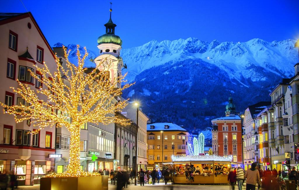 Die Maria Theresienstraße im weihnachtlichen Glanz. Eine Inszenierung, um die uns die Welt beneidet.