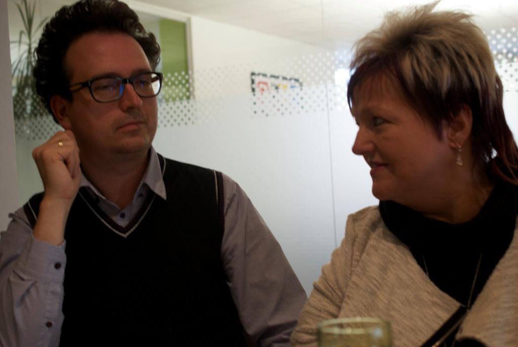 Ich im Gespräch mit Marianne Hengl. Eine sehr interessante und engagierte Frau!