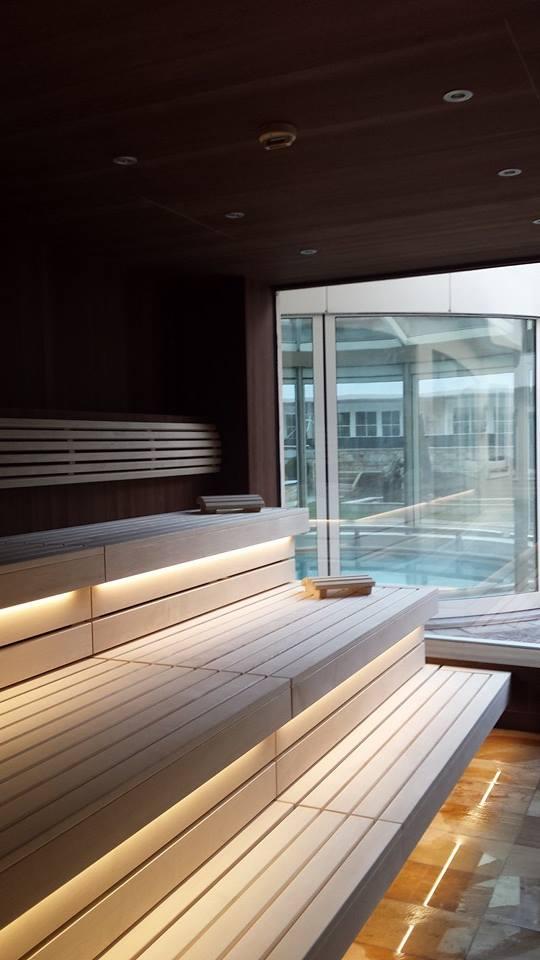 """Eine Sauna im """"Trofana Royal"""": Für mich immer noch der Gipfel der Entspannung."""
